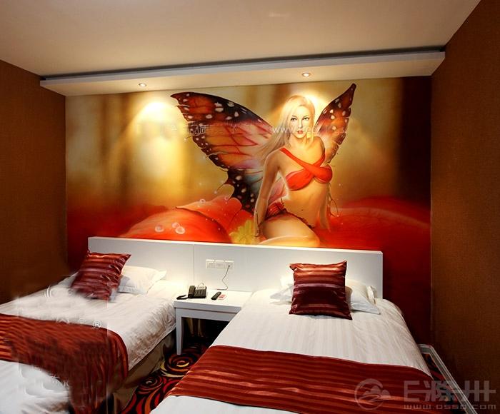 作品 主题宾馆墙体彩绘图片