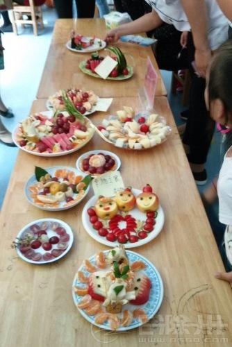 滁州市西涧花园美心幼儿园庆国庆亲子水果拼盘大赛