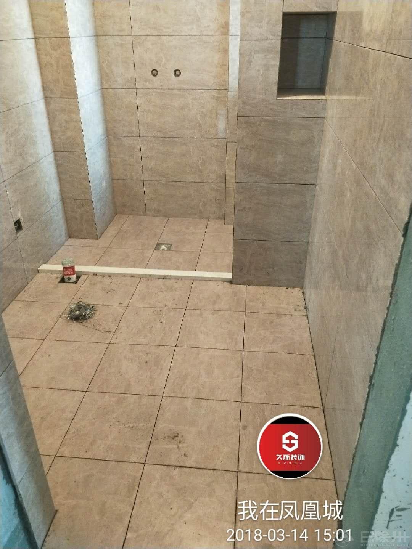 卫生间瓷砖铺设效果