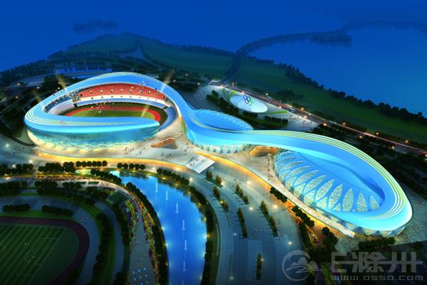 滁州奥体中心夜景