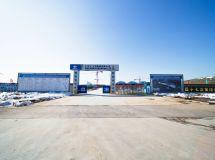 建设中的南谯区文体中心